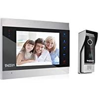 TMEZON 1080P Vidéo Interphone Visiophone Portier,7 pouces LCD Moniteur,Sonnette